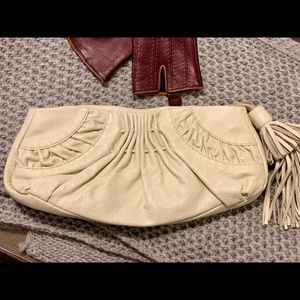 WHITE HOUSE BLACK MARKET Leather Clutch